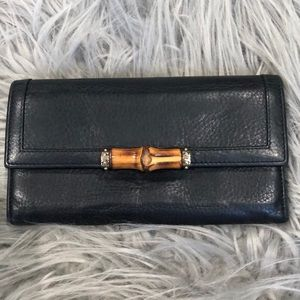 Authentic Vintage Gucci Bamboo Wallet